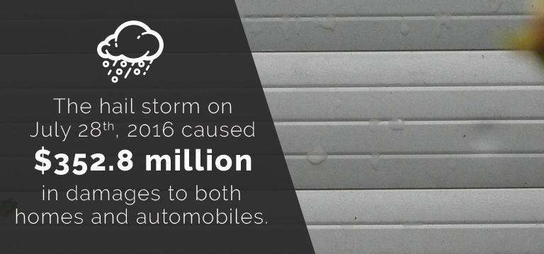 Hail-Storm-Garage-Door-Damage