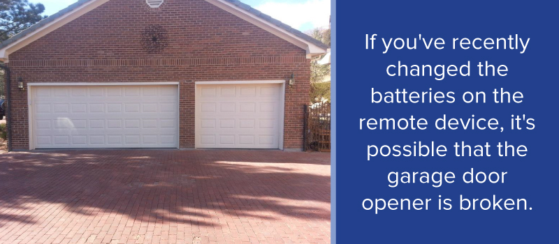 garage door won t openCommon Garage Door Opener Problems When to Repair  Replace