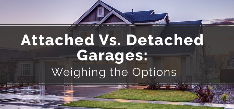attached vs detached garages american overhead door